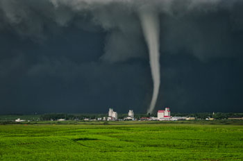 Tornado in Kenaston, Saskatchewan